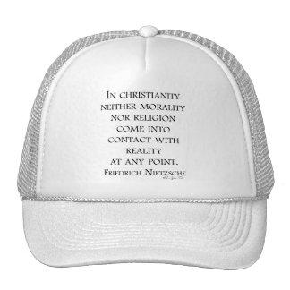 Nietzsche on christianity trucker hat