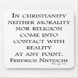 Nietzsche on christianity mouse pads