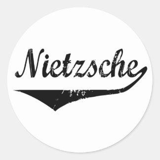 Nietzsche Etiquetas Redondas