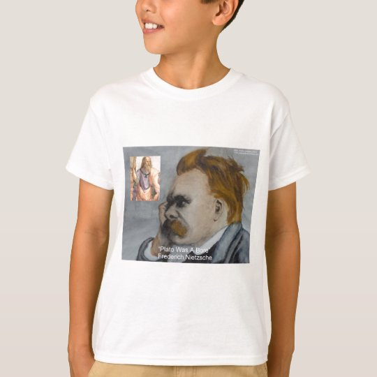 "Nietzsche ""Plato=Bore"" Quote Gifts Tees Mugs Etc"