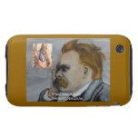 "Nietzsche & Plato ""Plato Is Boring"" Quote Case-Mat Tough iPhone 3 Case"