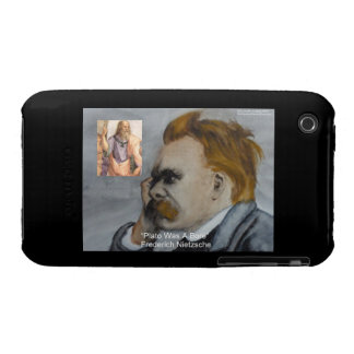 "Nietzsche & Plato ""Plato Is Boring"" Quote custom c Case-Mate iPhone 3 Case"