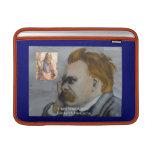 """Nietzsche & Plato """"Plato Is Boring"""" Quote MacBook  Sleeve For MacBook Air"""