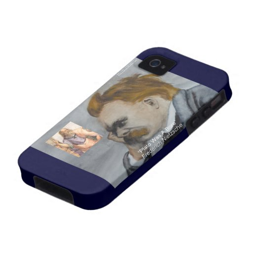 "Nietzsche & Plato ""Plato Is Boring"" QuoteCase-Mate iPhone 4 Covers"