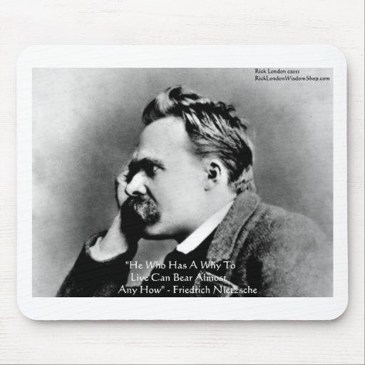 """Nietzsche """"porqué"""" regalos y tarjetas de la cita d alfombrilla de ratones"""