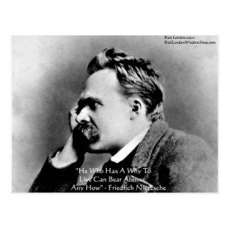 """Nietzsche """"porqué"""" regalos y tarjetas de la cita tarjetas postales"""