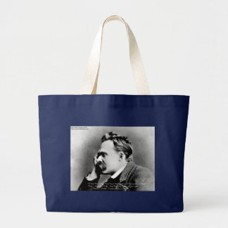 "Nietzsche ""Pride Vs Memory"" Wisdom Quote Gifts/Tee Large Tote Bag"