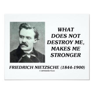 """Nietzsche qué no me destruye hace más fuerte invitación 4.25"""" x 5.5"""""""