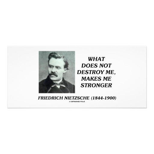 Nietzsche qué no me destruye hace más fuerte plantilla de lona
