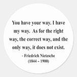 Nietzsche Quote 1a Classic Round Sticker