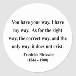 Nietzsche Quote 1a Round Sticker