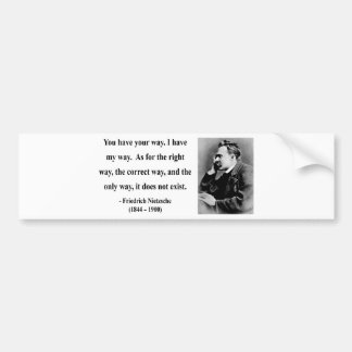 Nietzsche Quote 1b Bumper Sticker