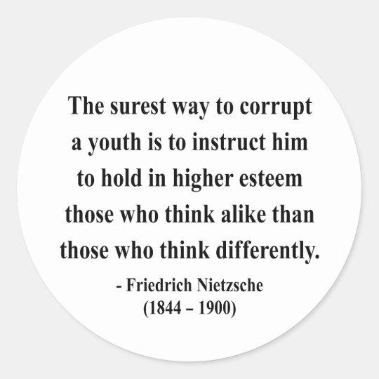 Nietzsche Quote 2a Classic Round Sticker