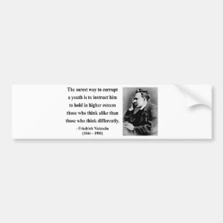 Nietzsche Quote 2b Bumper Sticker