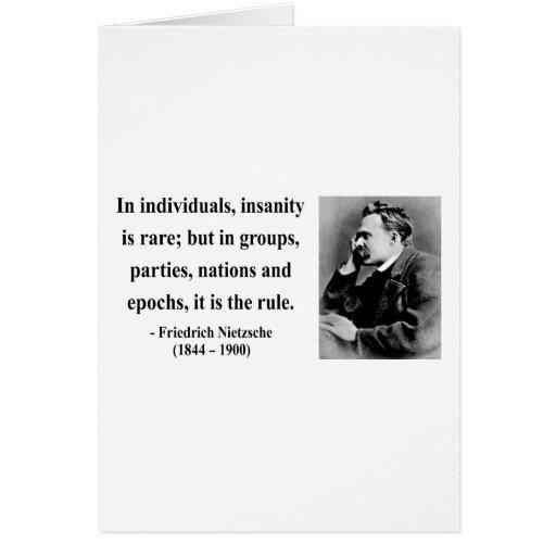 Nietzsche Quote 3b Greeting Cards