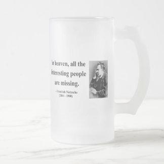 Nietzsche Quote 4b Frosted Glass Beer Mug