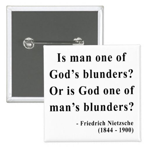Nietzsche Quote 6a 2 Inch Square Button