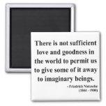 Nietzsche Quote 7a 2 Inch Square Magnet