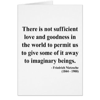Nietzsche Quote 7a Greeting Card