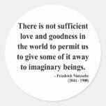 Nietzsche Quote 7a Round Stickers