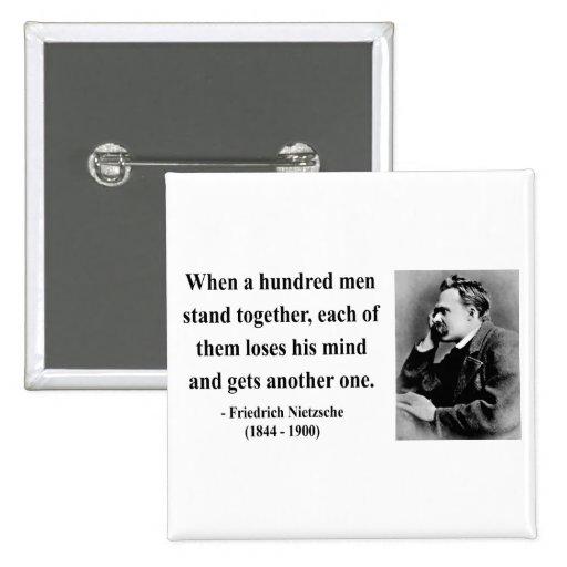 Nietzsche Quote 7b 2 Inch Square Button