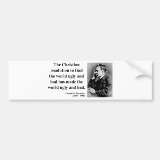 Nietzsche Quote 8b Bumper Stickers