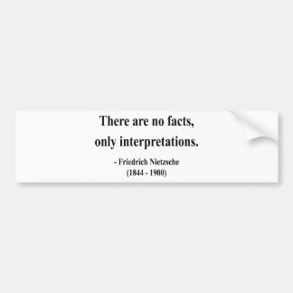 Nietzsche Quote 9a Bumper Sticker