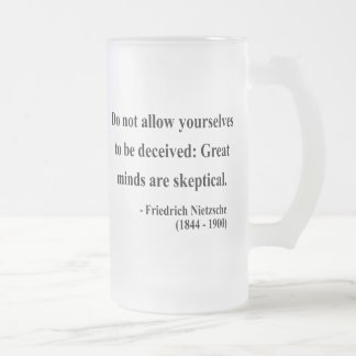 Nietzsche Quote 9a Frosted Glass Beer Mug