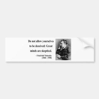 Nietzsche Quote 9b Car Bumper Sticker