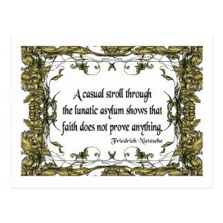 Nietzsche Quote Casual Stroll Through the Lunatic Postcard