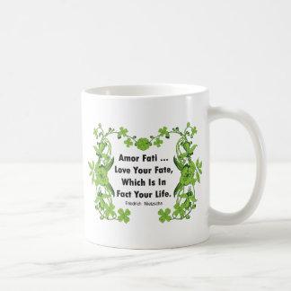 Nietzsche Quote Love Your Fate ... Coffee Mug