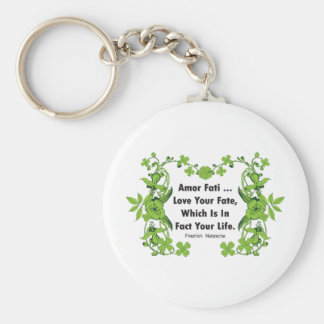 Nietzsche Quote Love Your Fate ... Keychain