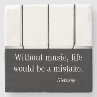 Nietzsche quote music coaster piano keys