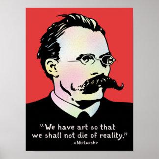Nietzsche - realidad del arte v. póster