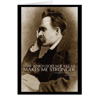 Nietzsche 'Stronger' quote note card