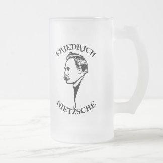 Nietzsche - sv frosted glass beer mug