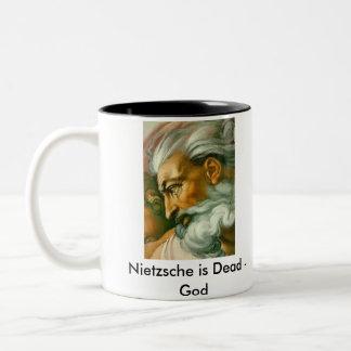 Nietzsche ... Two-Tone coffee mug
