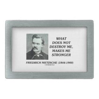 Nietzsche What Does Not Destroy Me Makes Stronger Belt Buckle