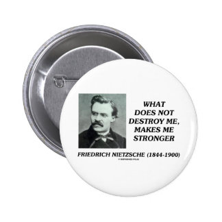 Nietzsche What Does Not Destroy Me Makes Stronger Button
