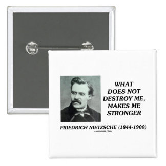 Nietzsche What Does Not Destroy Me Makes Stronger Pins