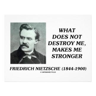 Nietzsche What Does Not Destroy Me Makes Stronger Letterhead Template