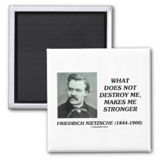Nietzsche What Does Not Destroy Me Makes Stronger Refrigerator Magnet