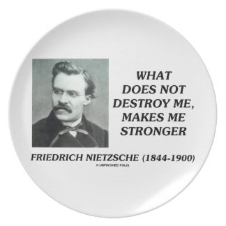 Nietzsche What Does Not Destroy Me Makes Stronger Melamine Plate