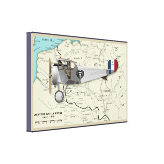 Nieuport17_Map Canvas Print