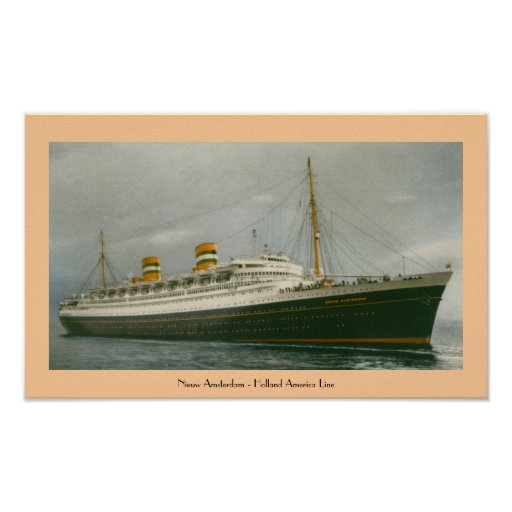 Nieuw Amsterdam - Holland America Line Posters