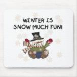 Nieva mucha diversión tapete de raton