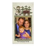 Nieva mucha tarjeta de la foto del día de fiesta d tarjetas con fotos personalizadas
