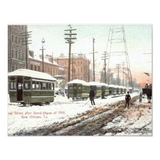 """Nieve 1895 del St del canal de New Orleans Invitación 4.25"""" X 5.5"""""""