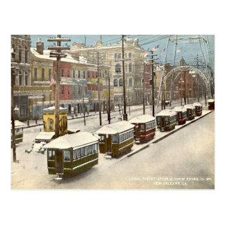 Nieve 1895 del St del canal de New Orleans Postal
