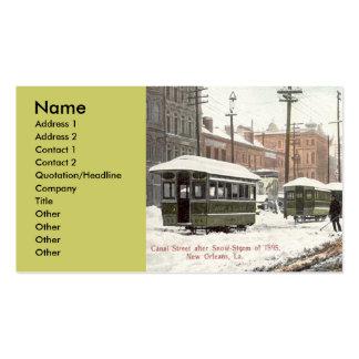 Nieve 1895 del St del canal de New Orleans Plantillas De Tarjeta De Negocio